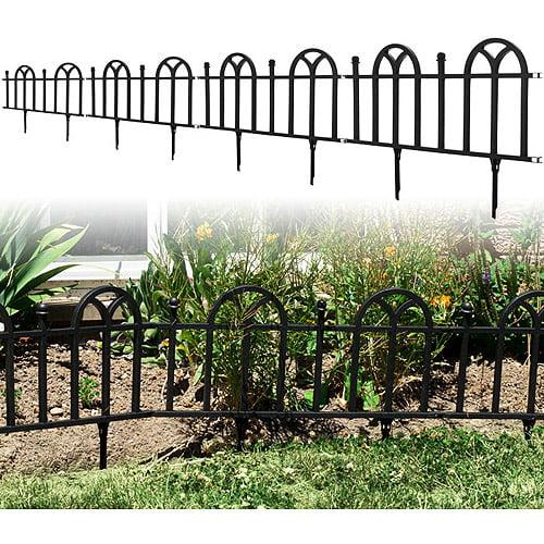 TerraTrade Victorian Garden Border Fencing Set, 4pk