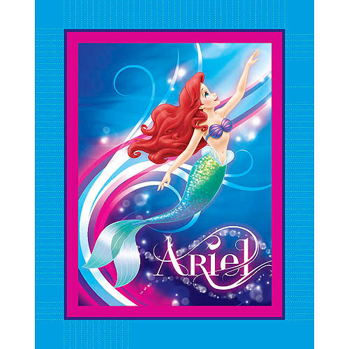 Springs Creative Disney Ariel Colorful World No-Sew Fleece Throw Kit