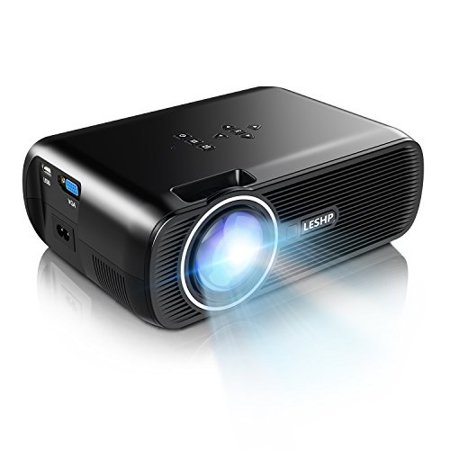b3e23c4e9dc8ef LESHP 1500 Lumens LCD Mini Projector, LED Video Projector Home Projector  with Free HDMI Support