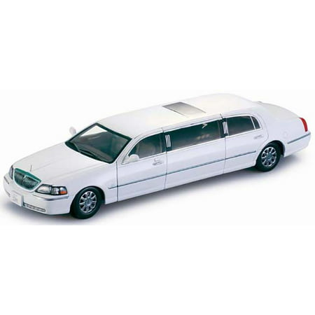 2003 Lincoln Town Car Limousine Vibrant White 1/18 Diecast Car Model by