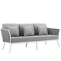 Modway Stance Outdoor Patio Aluminum Sofa, Multiple Colors
