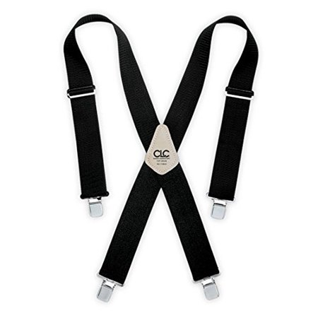 Custom LeatherCraft 110BLK Heavy Duty Work Suspenders, Black, Heavy 23 5121 Suspenders 110RED Size One Framers Comfortlift Straps Combo Black.., By CLC Work Gear (Custom Suspenders)