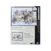 Dimensions Cross Stitch Kit 16x12 Mother Wolf&Pups