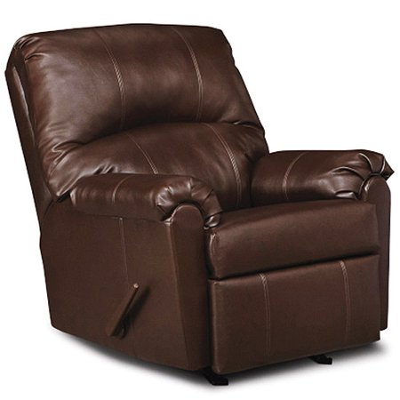 Simmons Windsor Rocker Recliner Brown Faux Leather