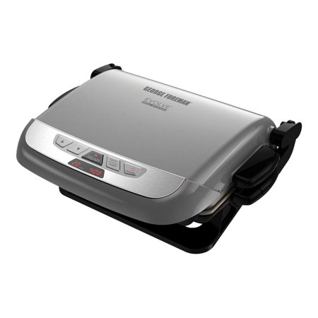George Foreman Evolve GRP4842P - Grill - electrical - platinum for $<!---->