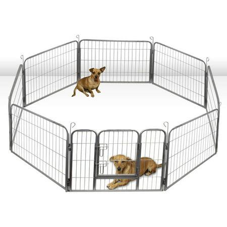 Oxgord Large Hammigrid Wire Folding 8-Panel Pop-Up Kennel, 2015 Design