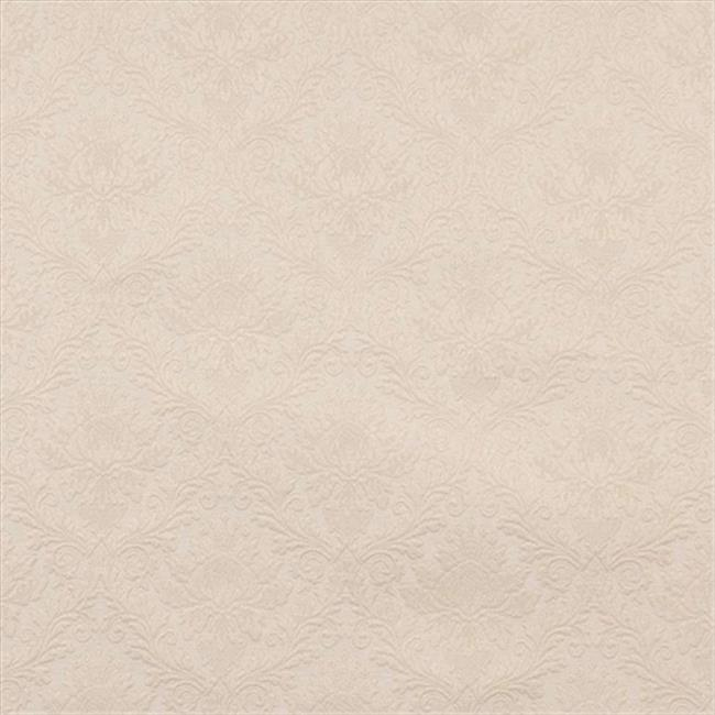 Designer Fabrics E543 54 in. Wide Off White, Floral Jacquard Woven Upholstery Grade Fabric