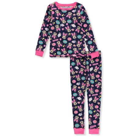 Moose Thermal (Disney Minnie Mouse Girls' 2-Piece Thermal Long Underwear)