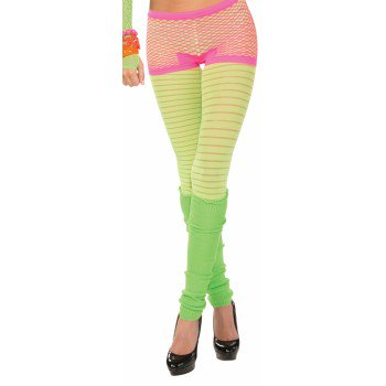 Club Candy Neon Fishnet Costume Boy Shorts Adult: Hot Pink (Candy Costumes)