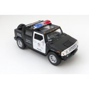 Hummer H2 Police SUV 1/40th Scale Diecast Car 4.5 Inches Pushback Action