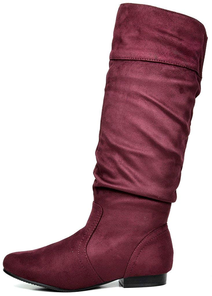 Women/'s Knee High Boots Slouchy Flat Casual Boots Extra Wide Calf Winter Shoes
