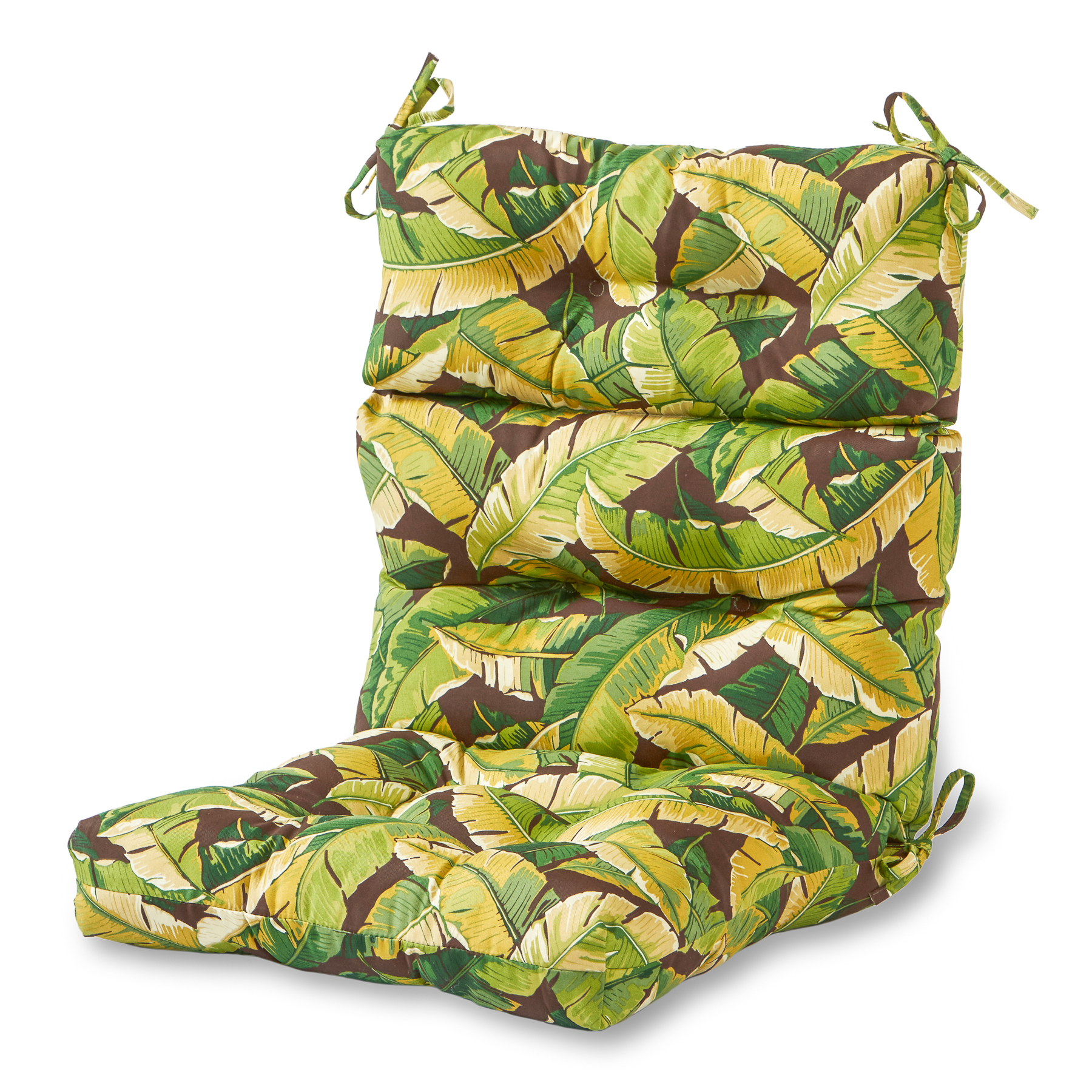 Greendale Home Fashions Palm Leaves Outdoor High Back Chair Cushion