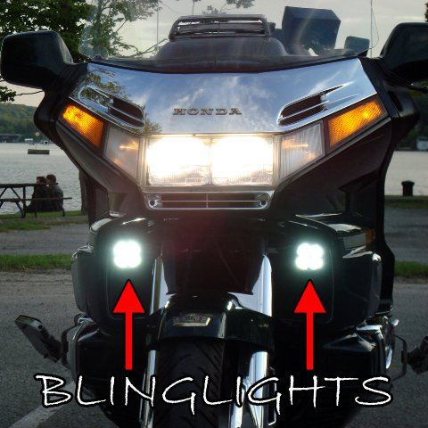 CHROME ROTOR COVERS WITH STRIP LIGHT  HONDA GOLDWING GL1500