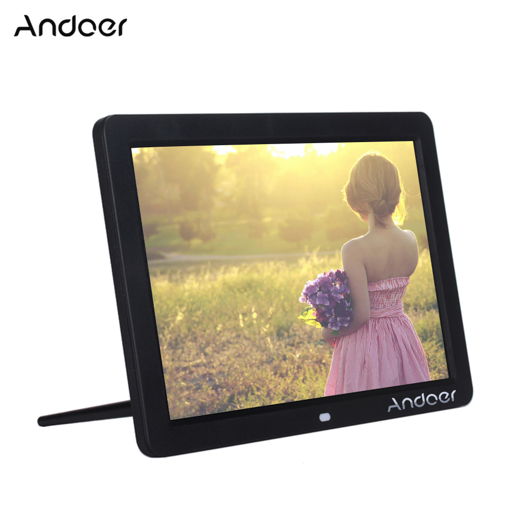 Andoer 12 Wide Screen Hd Led Digital Picture Frame Digital Album High Resolution 1280 800 Electronic Photo Frame With Remote Control Multiple Functions Including Led Clock Calendar Mp3 Mp4 Movie Play Walmart Com