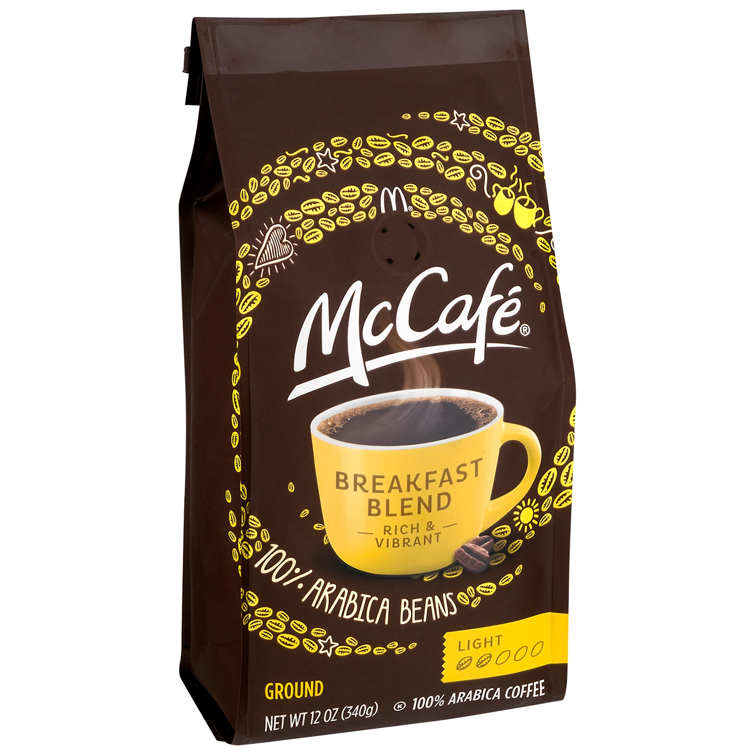 McCafe Breakfast Blend Light Roast Ground Coffee, 12 OZ (340g)