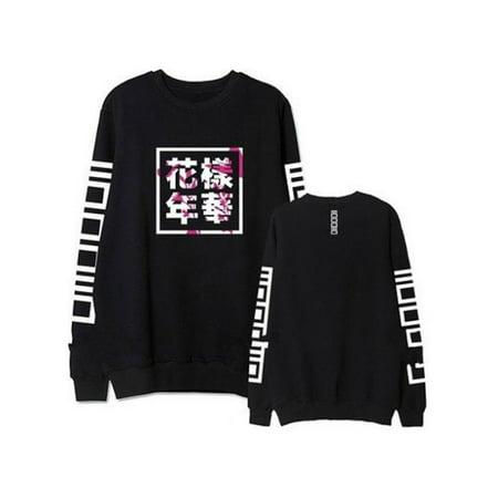 feff19435d96 Phoebecat - Womens / Men Chinese Printed BTS Sweatshirt Hoodie , Long  Sleeve Hot Tops for Women / Men, Blouse Jumper Coat, Gray / Black / White,  S-2XL(Asian ...
