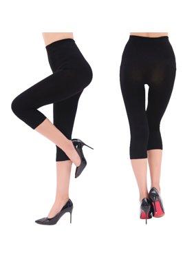534343102c327 Product Image Women's High Waist Seamless Stretchy Spandex Yoga Pants  Opaque Capri Leggings Jegging Black Size S-