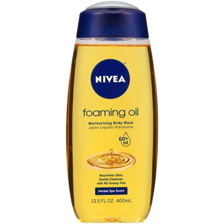 Body Works Foam - NIVEA Foaming Oil Moisturizing Body Wash 13.5 oz. Bottle