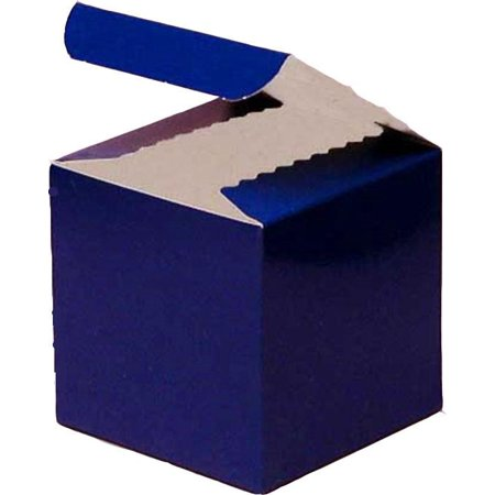 3 x 3 x 2 Inches Glossy Blue Royal Paper Gift Box