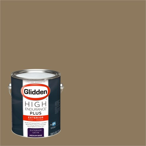 Glidden High Endurance Plus Exterior Paint and Primer, Canvasback Brown, #10YY 23/184