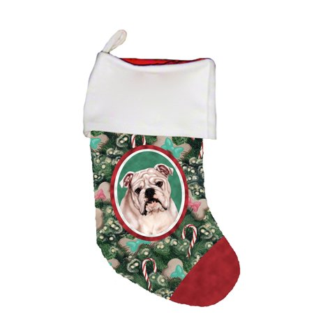 Bulldog Christmas Stocking - Bulldog White - Best of Breed Dog Breed Christmas Stocking