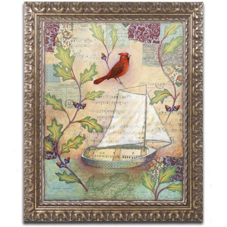 Trademark Fine Art 'Destiny Boat' Canvas Art by Rachel Paxton, Gold Ornate