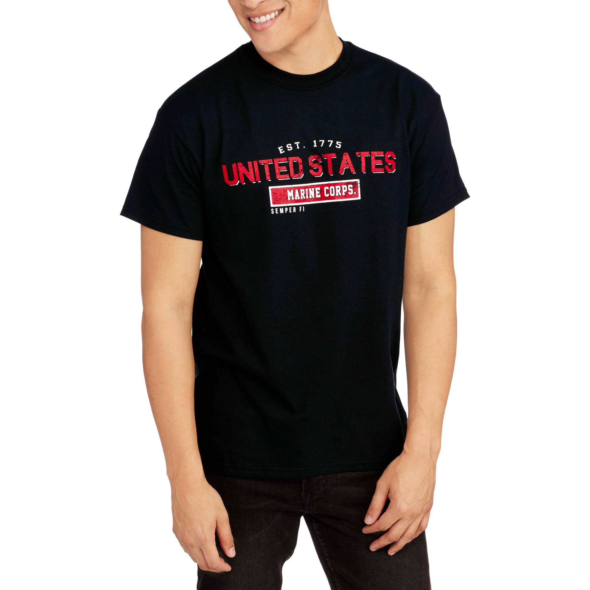 Men's Military Officially Licensed Marines Short Sleeve Tee