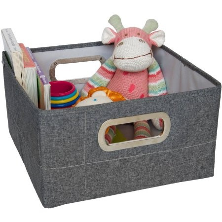JJ Cole Storage Box - Slate Heather - 6.5 In.