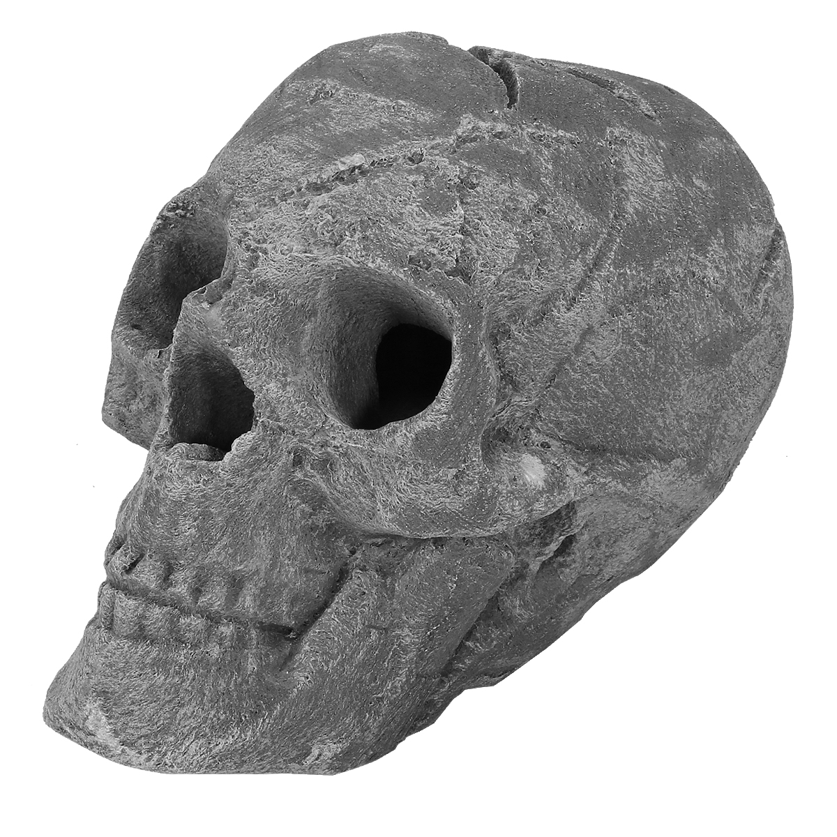Barton Ceramic Skull Fire Pits And Fireplaces Single Fireproof Ceramic Skull Grey Walmart Com Walmart Com