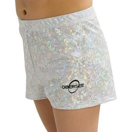 b11cba021f1d Obersee - Obersee Gymnastics Shorts - Silver Hologram - Walmart.com