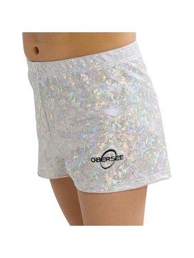 Obersee Gymnastics Shorts - Silver Hologram