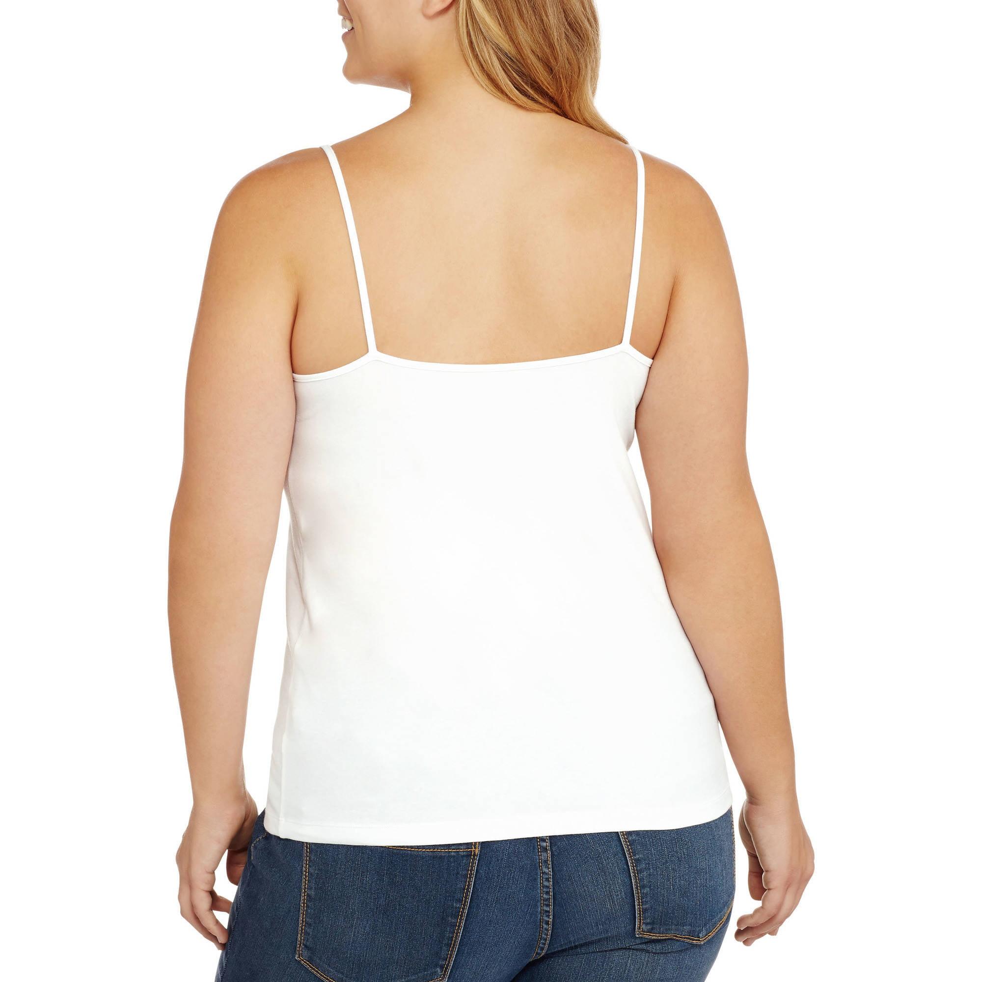 7f816809be7 Faded Glory - Women s Plus Cami - Walmart.com