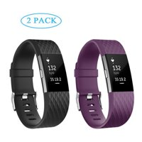 POY Fitbit Charge 2 Bands 2 PACK Adjustable Replacement Wristband Band for Fitbit Charge 2 New Style (Small)