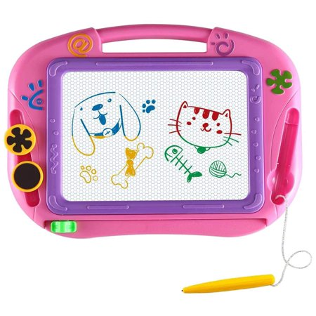 Magnetic Drawing Board for Kids- Erasable Colorful Magna Doodle Drawing Board Toys for Kids Writing Sketching Pad- Gift Little Girls Travel
