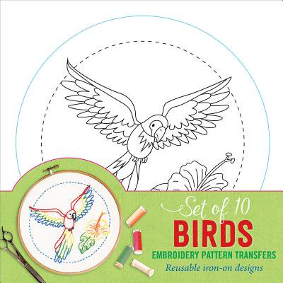 Birds Embroidery Pattern Transfers - Halloween Embroidery Patterns