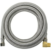 Certified Appliance DW120SSBL Braided Stainless Steel Dishwasher Connector With Elbow, 10ft