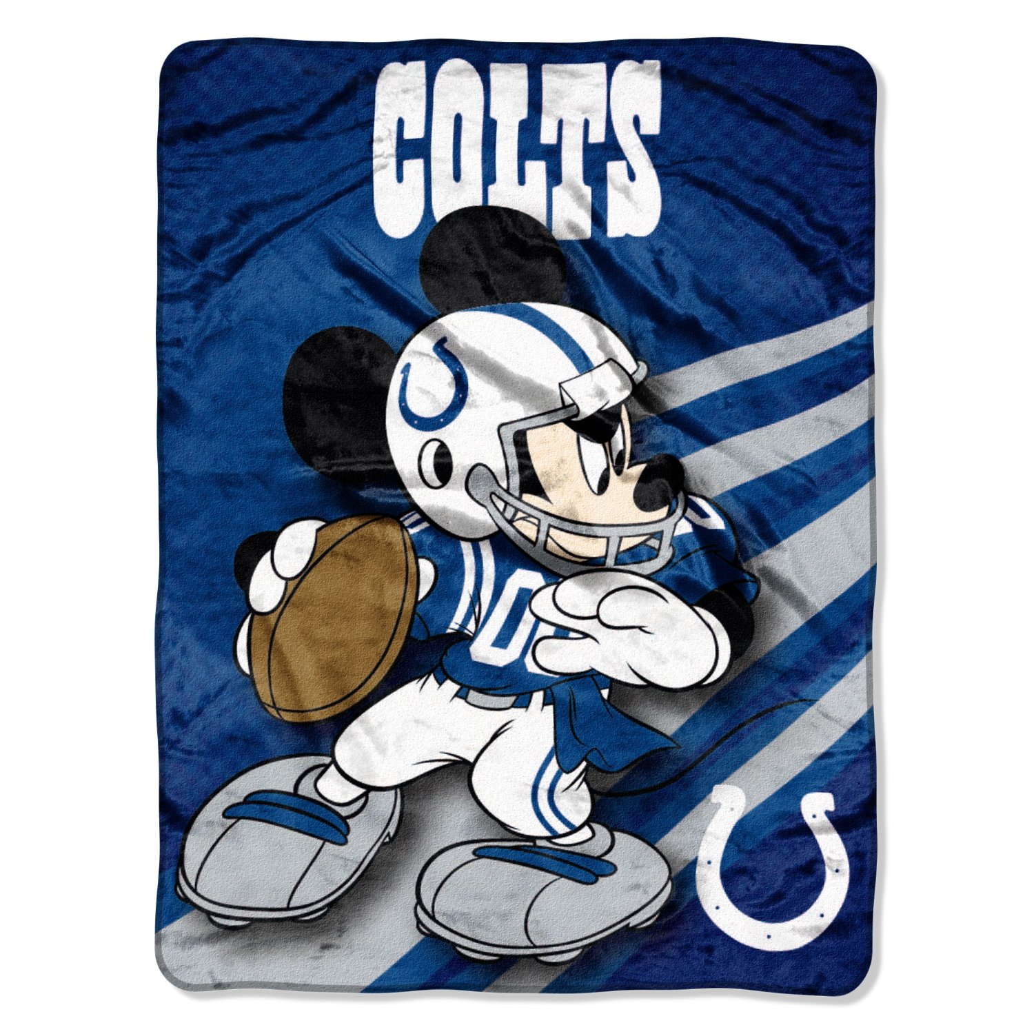 Indianapolis Colts NFL 46x60 Mickey Mouse Micro Raschel Plush Throw