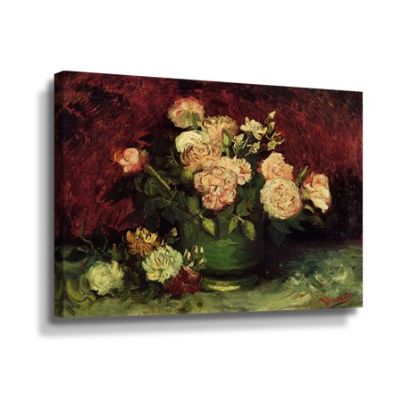 ArtWall Roses and Peonies by Vincent van Gogh Wall Art