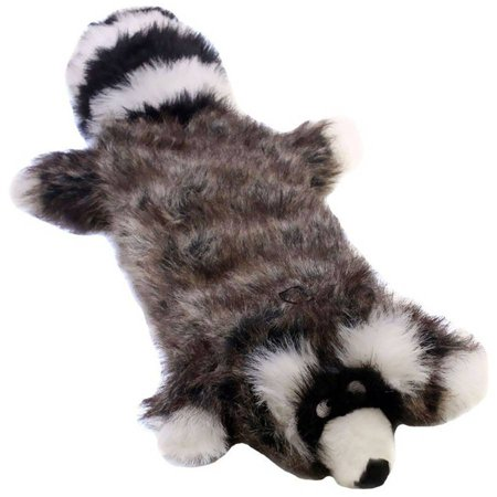 Kyjen Long Body Real Animal Squeaker Mat, Ricky the Raccoon