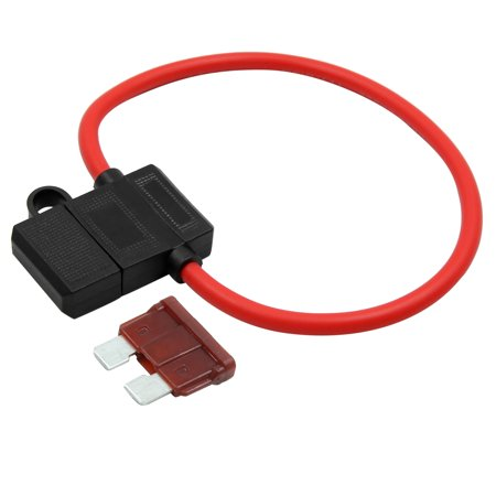 10 Gauge DC32V Car Wire Harness Fuse Holder w 7.5A Blade Style Fuse on