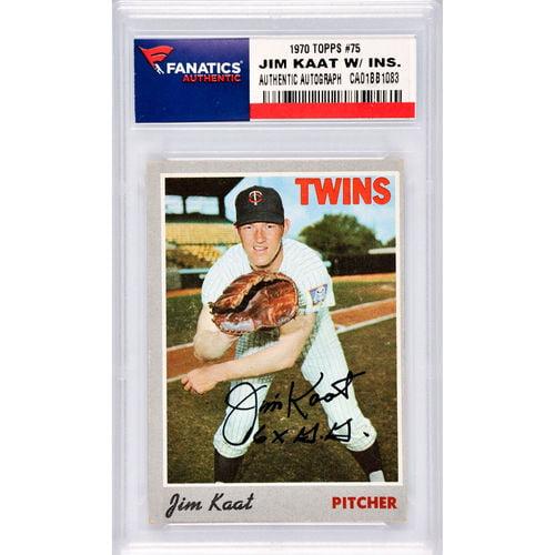 Jim Kaat Minnesota Twins Autographed 1970 Topps #75 Card with 16 X GG Inscription