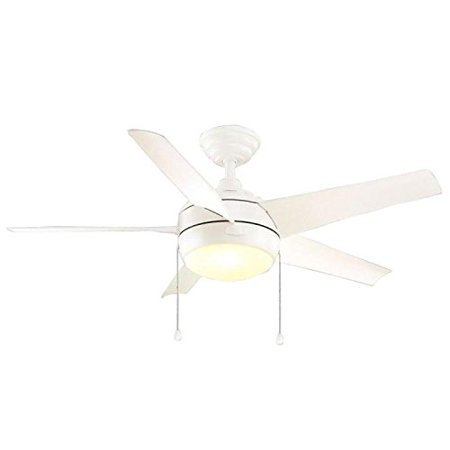 Home decorators collection 44 in windward matte white ceiling fan