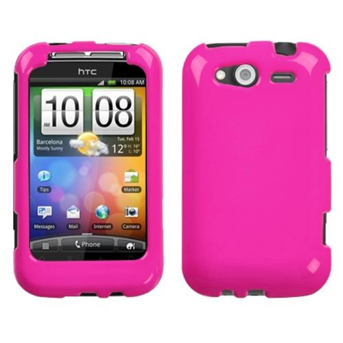 Insten Solid Shocking Pink Phone Case for HTC: Wildfire S (GSM), Wildfire S (CDMA)