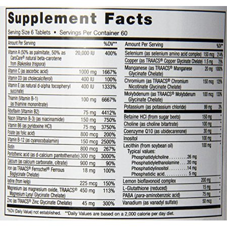 Maxi Health Supreme - High Potency Multivitamin & Mineral Supplement, 360
