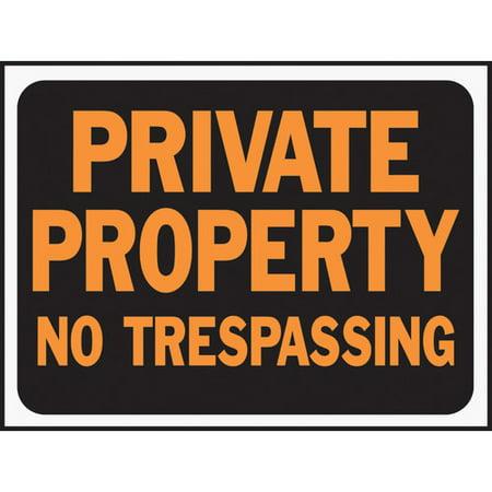 Trespassing Wall - Hy-Ko Private Property No Trespassing Sign (Set of 10)