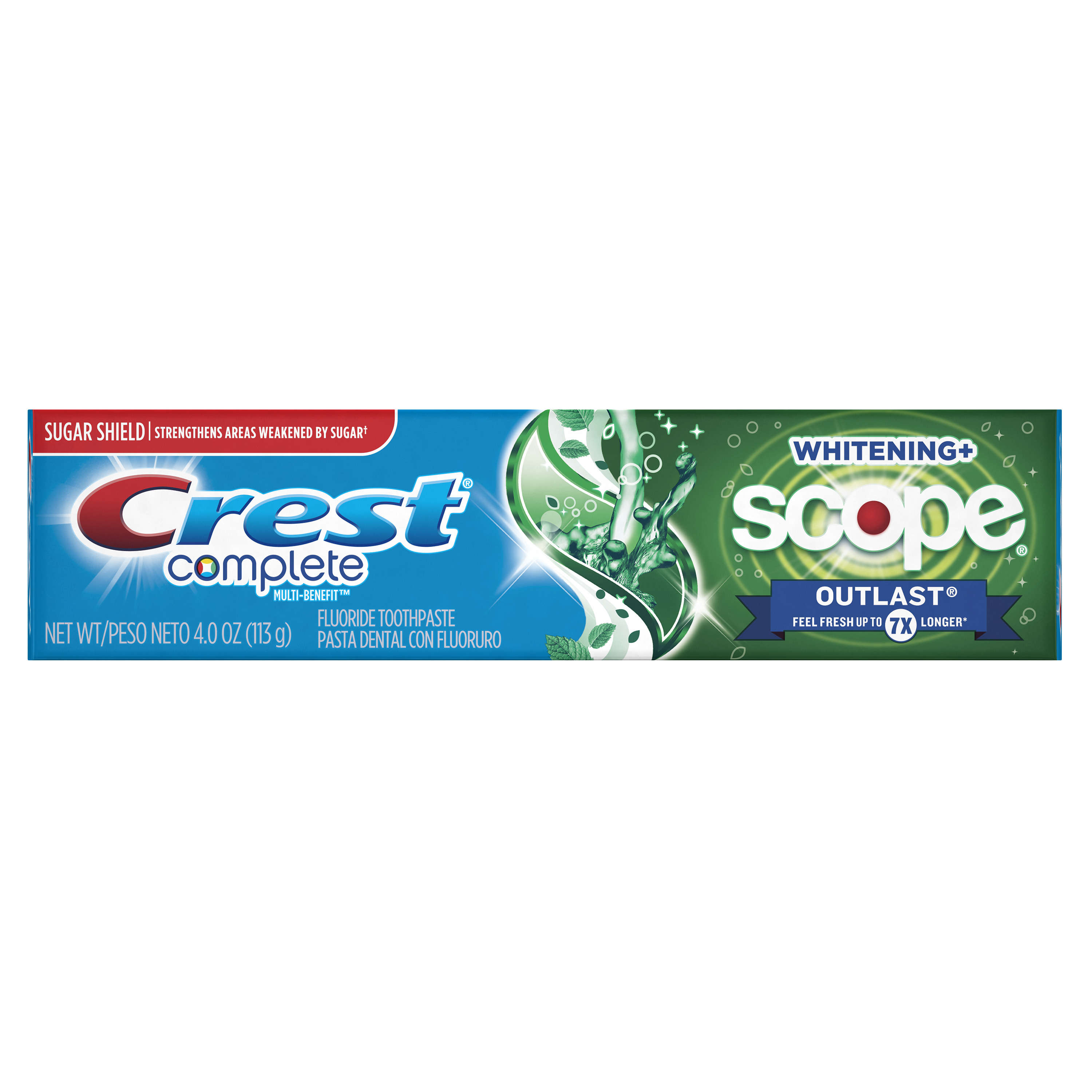 Crest Complete Whitening + Scope Outlast Mint Toothpaste, 4.0 Ounce