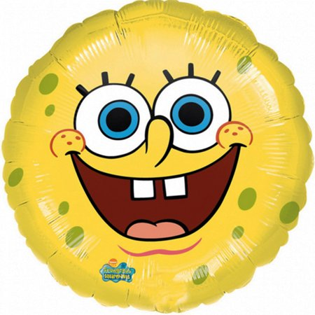 Smiley Face Foil Balloon - Spongebob Smiles Face Foil Balloon 18