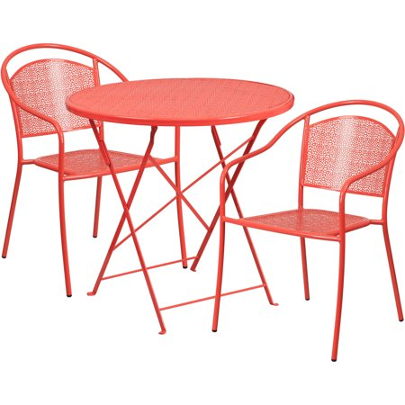 Flash Furniture 30 Round Indoor Outdoor Steel Folding