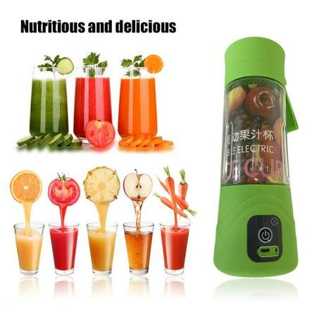 1Pc 380ML Portable Mini Electric Juice Cup USB Recharging Milkshake Blender Bottle