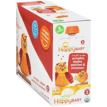 Happy Baby® Simple Combos Pumpkin, Apples, Peaches & Cinnamon Organic Baby Food 8-4 oz. Box - Baby Pumpkin